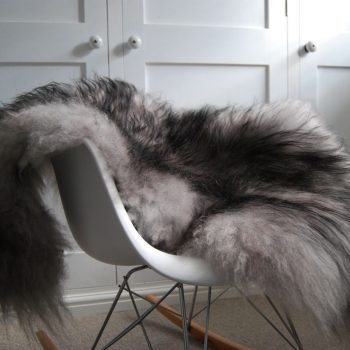 Black Tipped Grey Icelandic Sheepskin