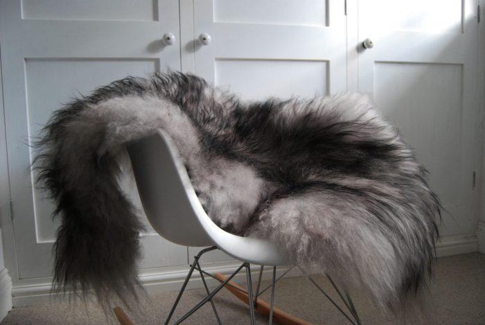 Black Tipped Grey Icelandic Sheepskin