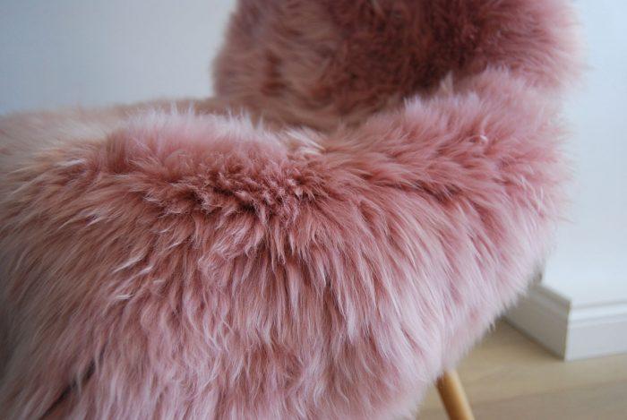 Dusky Ping Sheepskin Rug Closeup