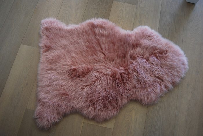 Dusky Ping Sheepskin Rug on Floor