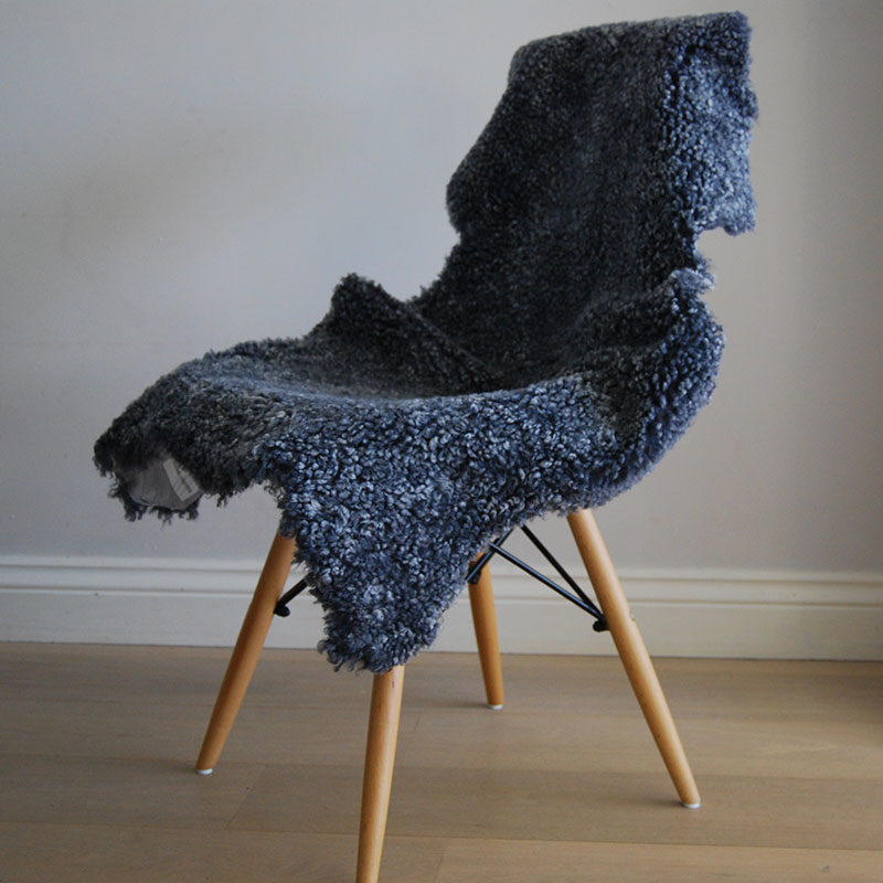 Buy A Charcoal Grey Merino Wool Short Haired Sheepskin