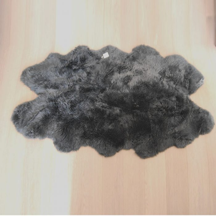Huge Slate Grey Sheepskin Rug