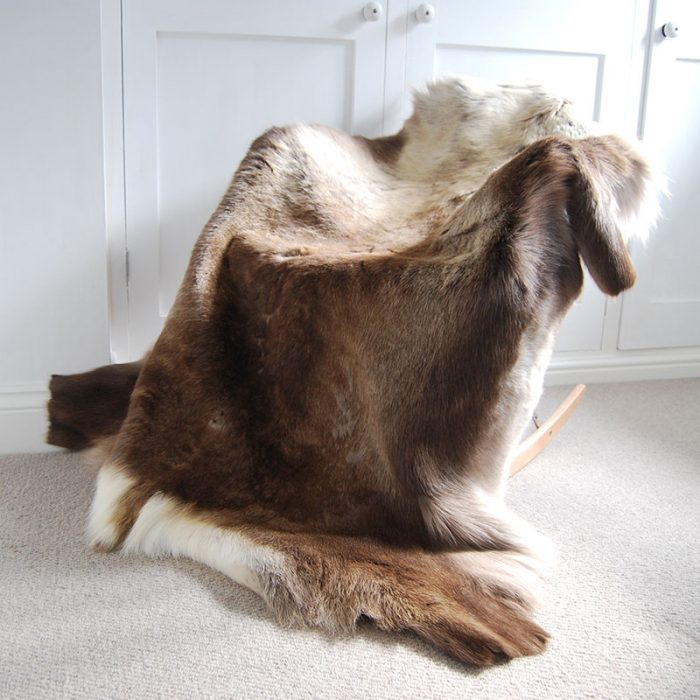 Huge natural Eco Reindeer Rug
