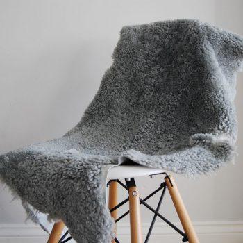 Light Grey Short Haired Shearling Sheepskin Rug