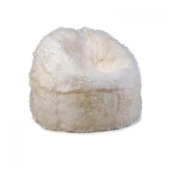 Luxury Ivory Sheepskin Beanbag