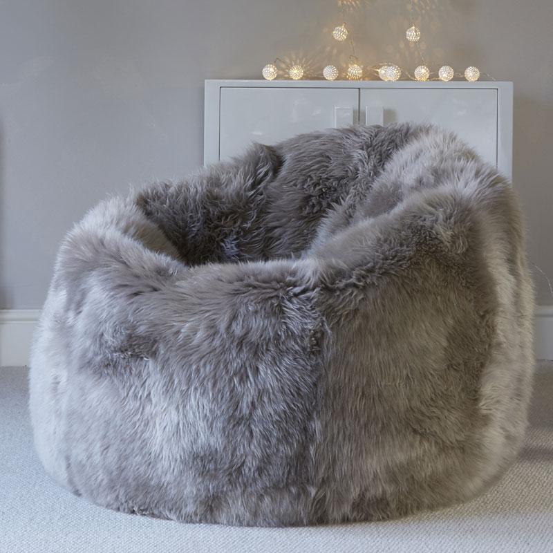Buy A Warm Grey Sheepskin Beanbag Online At Nordic Sheepskin