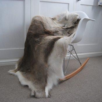 Medium Reindeer Hide Natural Light Markings on Chair