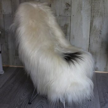 Natural Icelandic Sheepskin with Black Spot on Chair