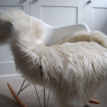 Pale Oyster Sheepskin Rug
