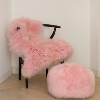 Ple pink pouffe
