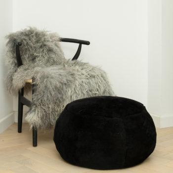 Black sheepskin drum