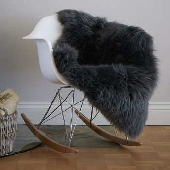 Slate Grey Luxury British Sheepskin Rug