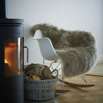 Warm Grey Sheepskin Rug