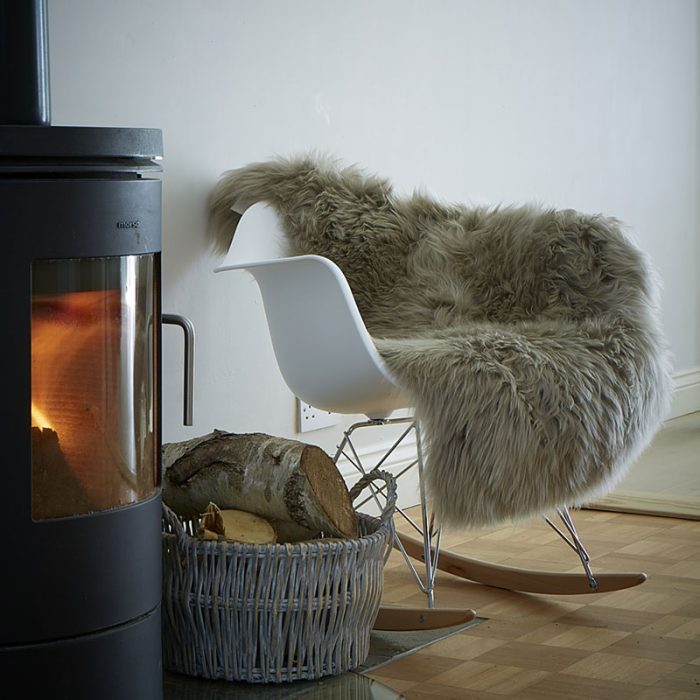 Warm Grey Sheepskin Rug