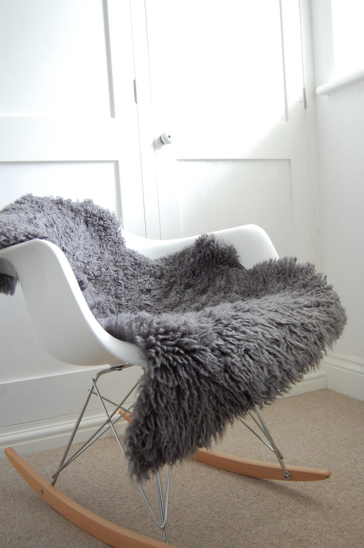 Buy A Dark Grey Curly Sheepskin Online At Nordic Sheepskin
