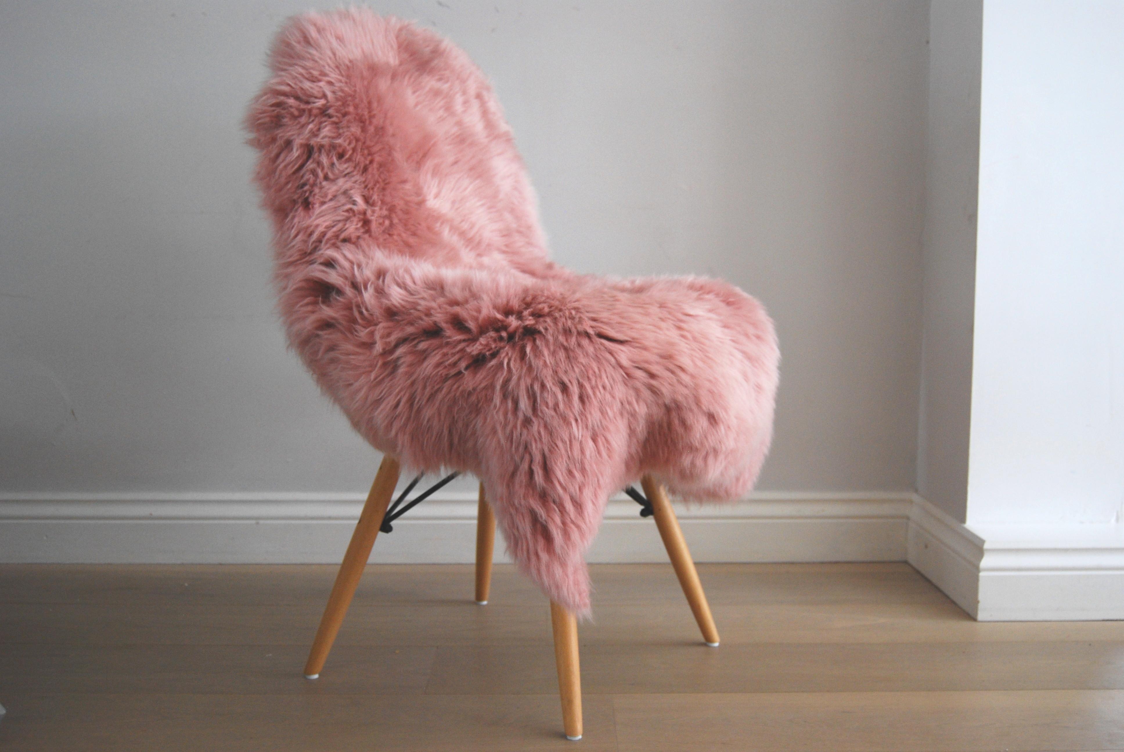 A Dusky Pink Sheepskin Online At