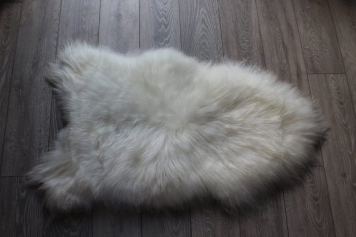 Pure Icelandic Ivory Sheepskin on floor