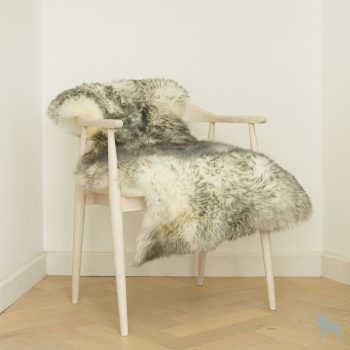 grey tipped ivory sheepskin