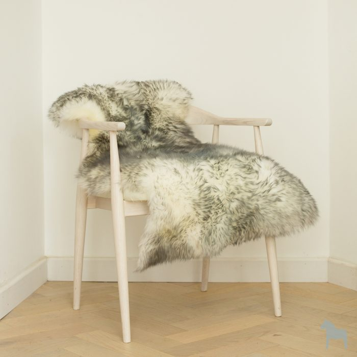 grey tipped ivory sheepskin