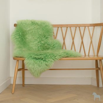 Grass green sheepskin