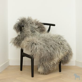 large grey icelandic sheepskin