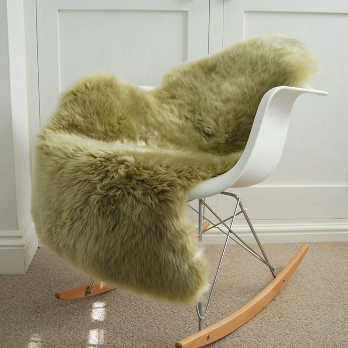 Pistachio Sheepskin on Chair