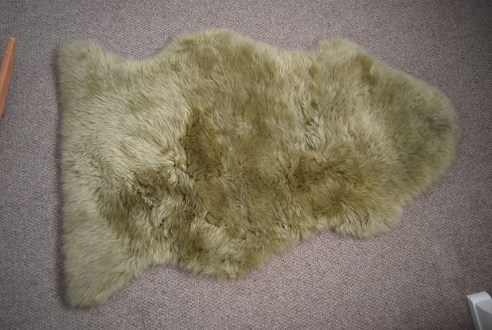 Pistachio Sheepskin on Floor