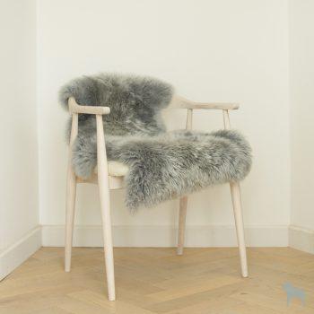 silver grey sheepskin rug